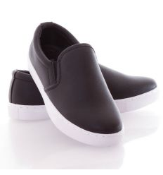 Matt barázda mintás belebújós női slip-on cipő (88-507)