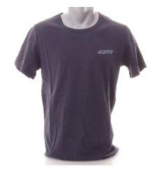 Pamut kerek-nyakú férfi rövid ujjú póló kis mintával (1103)