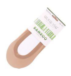 Lézervágott bambusz női balerina zokni (NDD636)