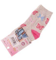 Vegyes mintás pamut lány normál zokni (CP5018)