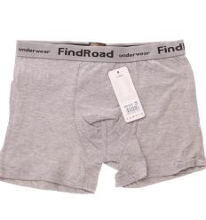 Egyszínű, feliratos, rávvart gumis, sportos fazonú férfi pamut boxer (Findroad H6354)