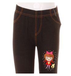 Kacsás kislány mintás, bevarrt gumis, farmeres lány leggings (778-5)