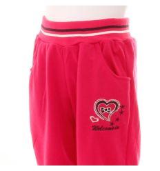 Szíves masnis, vékony pamut passzés aljú lány melegítő nadrág (PL286)