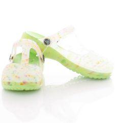 Mintás, vastag talpú, sarkánál pántos női gumi cipő, vizicipő (T441)
