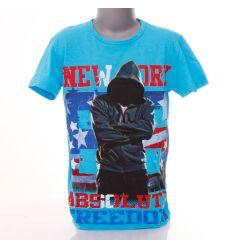 New York, kapucnis pulcsi mintás fiú póló