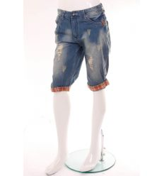 Koptatott, szaggatott férfi térd farmer nadrág (NK2618)