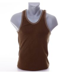 Egyszínű, rugalmas pamut anyagú férfi atléta (J002)