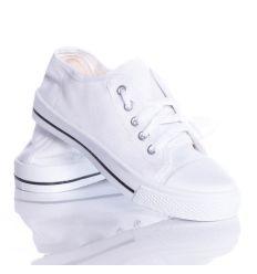 Fűzős tornacipő gyerek fehér