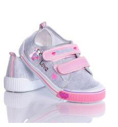 Love cicás, 2 tépőzáras lány vászon cipő (A9925)
