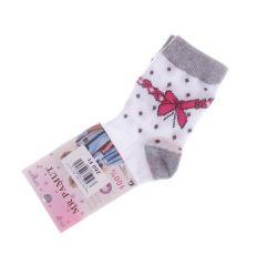 Vegyes mintás, pamut normál lány zokni (CP5009)