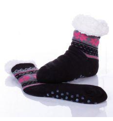 Norvég mintás, csúszásgátlós női mamusz zokni (MP6201)