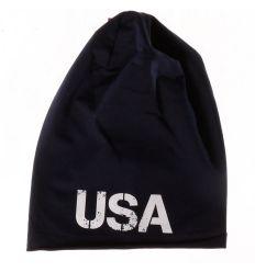 USA pamut, hosszított gyerek sapka (158)