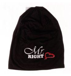 Mr. Right, dupla rétegű, hosszított gyerek pamut sapka (148)