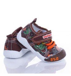 Dínós, feliratos, harántemelős fiú vászon cipő (A9339P)