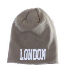 London feliratos, polár béléses, pamut sapka (157)