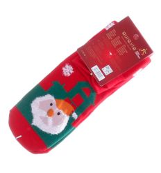 Téli, vegyes mintás, pamut normál zokni (SN30)