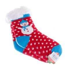 Bundás, téli mintás, csúszásgátlós gyerek házi zokni (GM890)