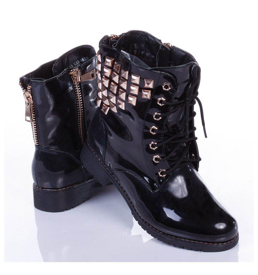 Női cipők Csizmák, Boka csizmák Szegecses női bakancs