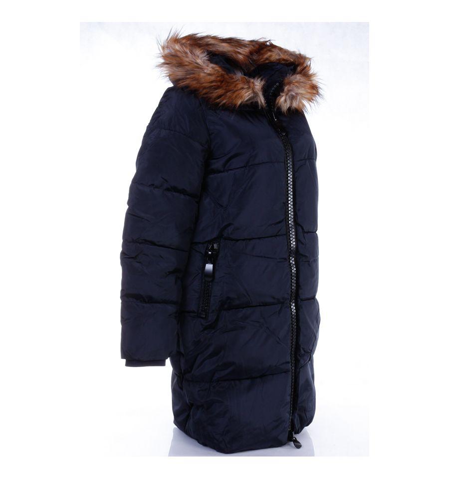 28248b4c31 ... Bélelt, szőrmés kapucnis, női hosszú téli kabát (WS255-2) ...