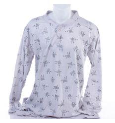 Kis mintás, 3 gombos férfi pamut hosszú pizsama (1005)
