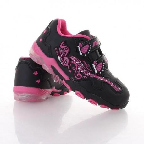 Műbőr pillangós világítós lány cipő (B170) 9ba1e1196d