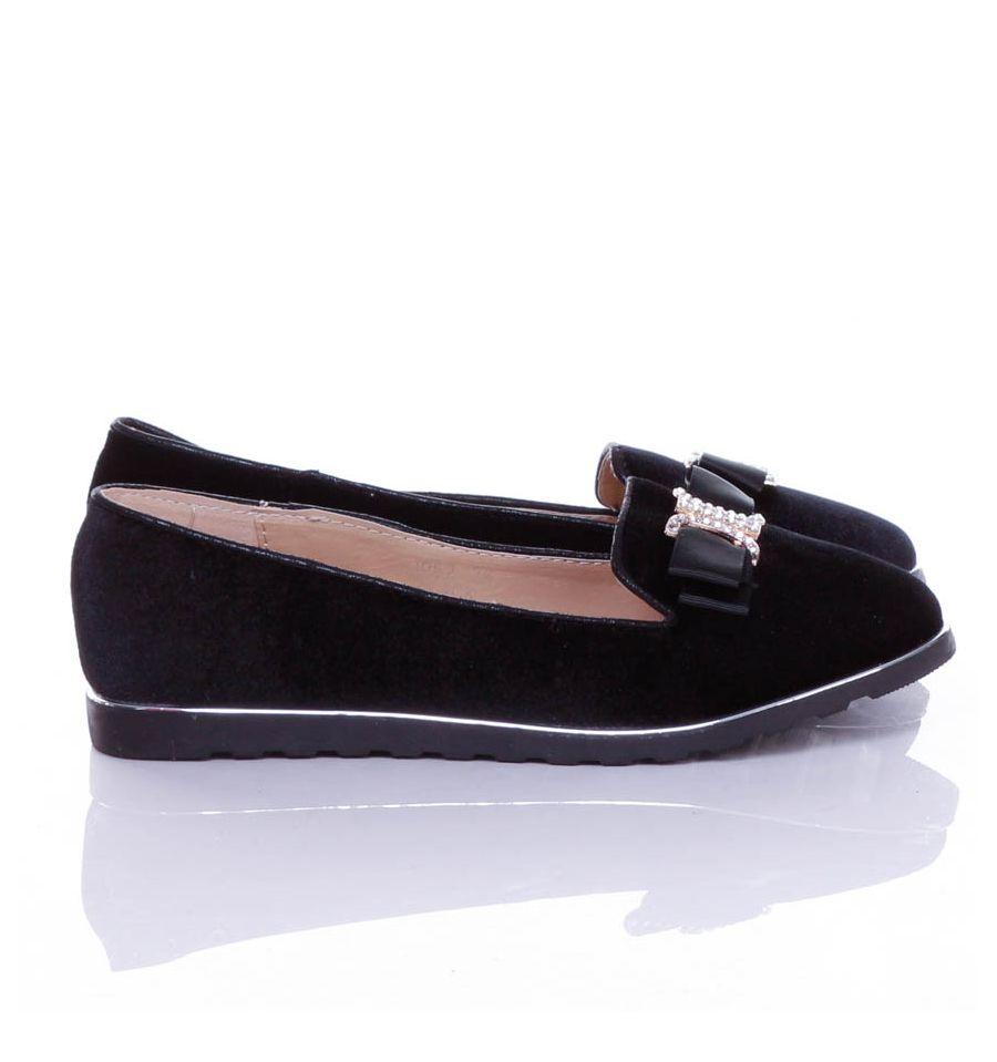 Arany Csatos masnis, bársony, belebújós női cipő (jp52