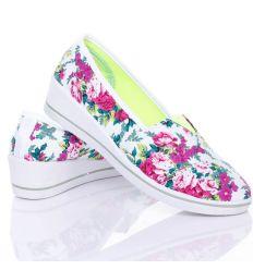 Éksarkú virágos vászon cipő (55239