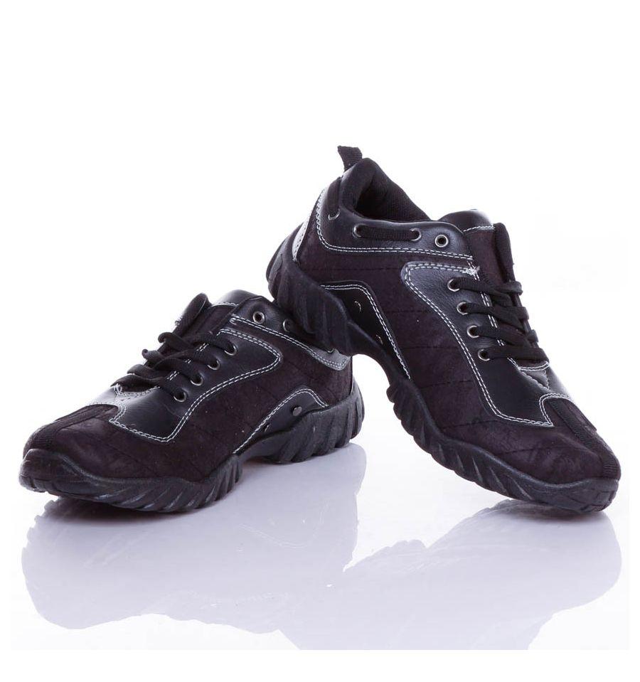 Munkás műbőr betétes férfi cipő