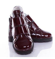 Maus Tanoda lakk/bőr, bélelt, tépőzáras gyerek cipő (fehér béléssel)