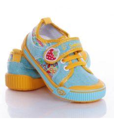 Eper mintás, harántemelős lány vászon cipő (A9943P)