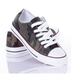 Terepmintás, 6 fűzős uniszex vászon tornacipő (WL-005)