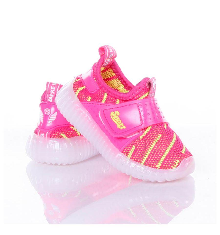 478a782882 Világítós, gumi talpú, tépőzáras, rugalmas vászon anyagú gyerek cipő  (X-2966 ...
