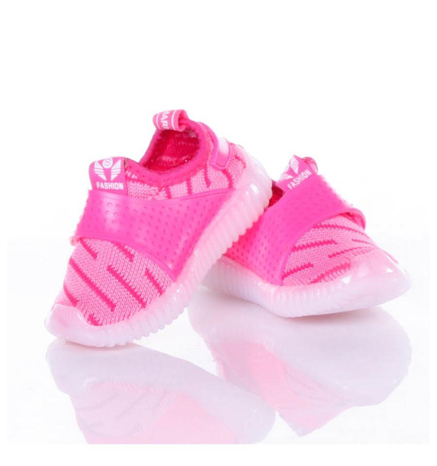 d1c4fa8912 ... Világítós, gumi talpú, tépőzáras, rugalmas vászon anyagú gyerek cipő  (X-2966 ...
