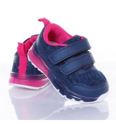 Világítós, gumi talpú, tépőzáras, harátemelős gyerek sportcipő (X-3127)