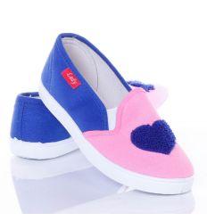 I love you mintás női belebújós vászon cipő (0015-13)
