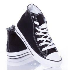 Magasszárú, egyszínű fűzős férfi vászon tornacipő (P-20)