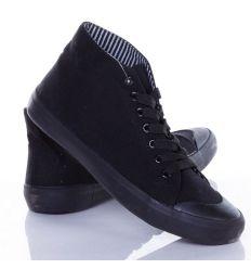Egyszínű, fűzős, magasszárú férfi torna cipő (CQ-61)