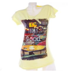 Today is a Good Day feliratos női pamut hosszított felső, póló