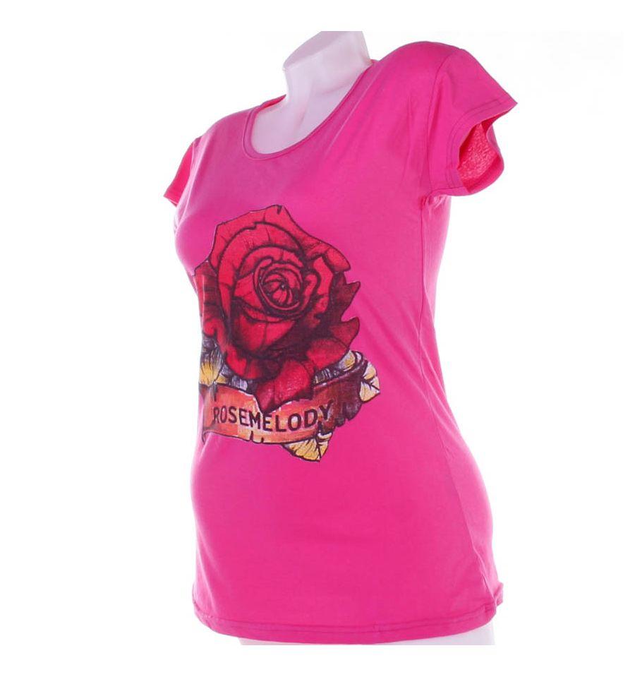 0b91ba4fc5 Rosemelody, nagy rózsás pamut női hosszított póló, felső