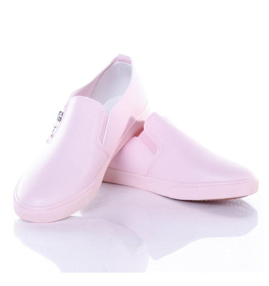 Fényes, 2 oldalt cipzáros könnyű, vékony női slip on cipő