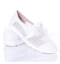 Lakkos-hálós, odlalt gumis női belebújós cipő (L61662,L61661,L61663)