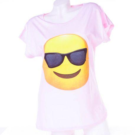 Napszemcsis Smiley-s, denevérujjú női pamut felső, póló