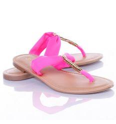 Lábfejnél arany pántos, lábujjközös női papucs, flip-flop (ZS-104)