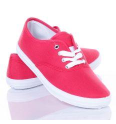 Egyszínű, színes, fűzős női vászon cipő (L41817,L41818,L41819,L41820)