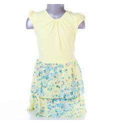 Virágos szoknyás, hátul megkötős lány ruha (CA13897)