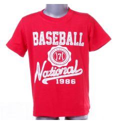 Baseball feliratos fiú rövid ujjú felső, póló (AH8171)