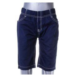 Egyszínű, gumis derekú fiú pamut rövid nadrág (SL-118)