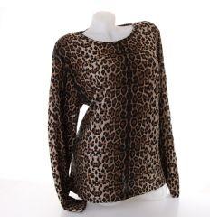 Női moletti leopárd mintás felső (9883)