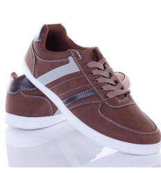 Műbőr, fűzős utcai sportos férfi cipő (3733)