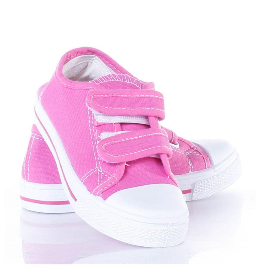 Hagyományos gyerek vászon tornacipő. Tépőzáras, színes.